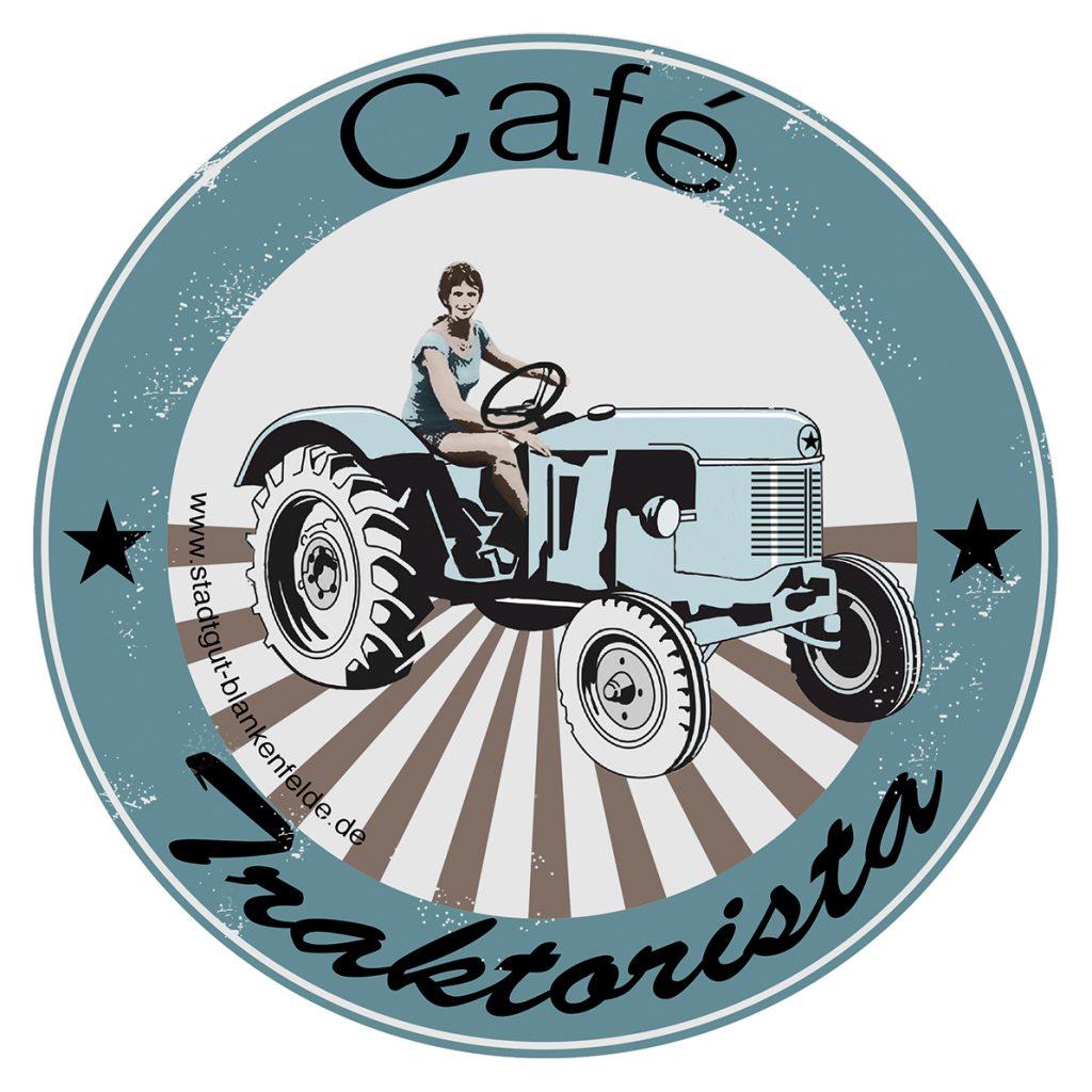 CafeTraktoristaAufkleber